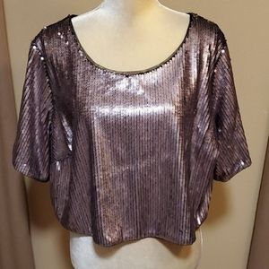 Ashley Nell Tipton sequined crop top size 2X